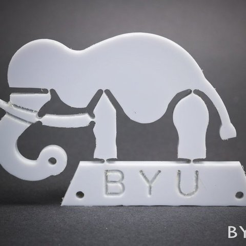 "Free 3D printer designs ""Wyrd"" Elephant Compliant Mechanism, byucmr"