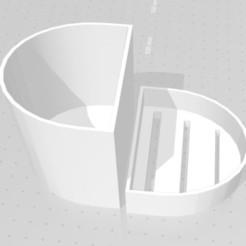 Denture Case.JPG Télécharger fichier STL Cas des prothèses dentaires / Station de nettoyage • Objet à imprimer en 3D, koibuff