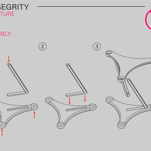 Showcase02.png Download free STL file Tensegrity structure - screw assembly • Model to 3D print, WilliamStadheim