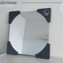 Showcase_01.png Télécharger fichier STL gratuit CADRE DE MIROIR (BORDS IMPRIMABLES) • Plan imprimable en 3D, WilliamStadheim