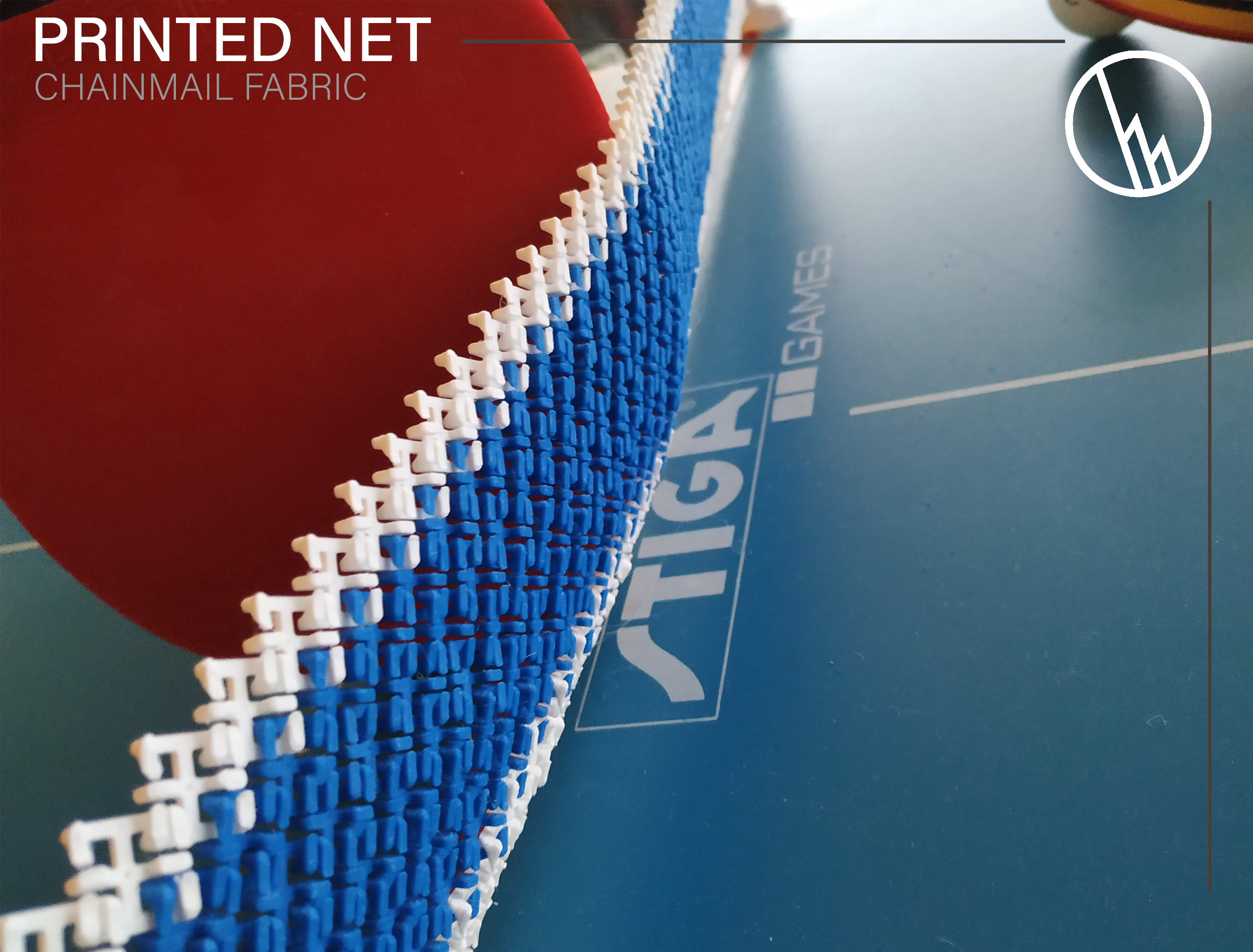 Showcase_02.png Download free STL file Table tennis net (chainmail) • 3D printable model, WilliamStadheim