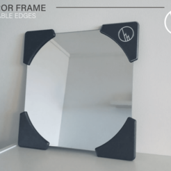 Showcase_01.png Download free STL file MIRROR FRAME (PRINTABLE EDGES) • 3D printable design, WilliamStadheim