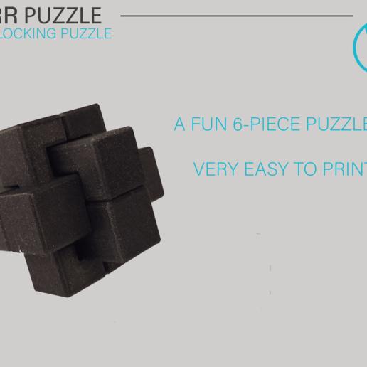 Download free 3D printing files Six-Piece Burr - Interlocking Puzzle, WilliamStadheim