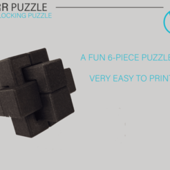 Showcase_01.png Download free STL file Six-Piece Burr - Interlocking Puzzle • 3D print template, WilliamStadheim