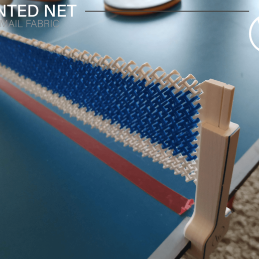 Showcase_03.png Download free STL file Table tennis net (chainmail) • 3D printable model, WilliamStadheim