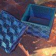 Download free 3D printing designs Square textured box, christianwilson