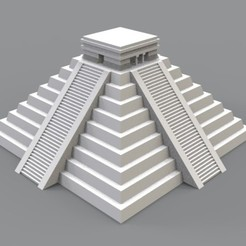 Download 3D printer files Aztec Pyramid - Temple of Chichen Itza, AgustinAguero