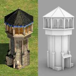 Download STL files West european tower - age of empires 2, AgustinAguero
