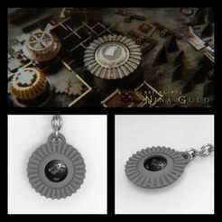 Download 3D printer templates Stark gear keychain - Game of Thrones, AgustinAguero