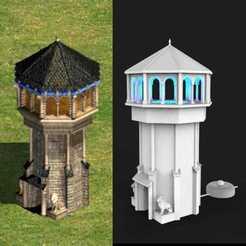 Télécharger modèle 3D Lampe de tour, âge des empires 2 - europe de l'ouest, AgustinAguero