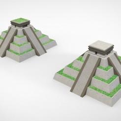 Descargar archivos STL Maceta de pirámide Azteca - Templo de Chichen Itzá, AgustinAguero