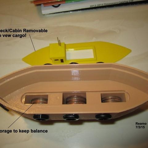 5_Buck_Boat_003_display_large.jpg Télécharger fichier STL gratuit 5 BUCK BOAT ! • Modèle pour imprimante 3D, Tarnliare