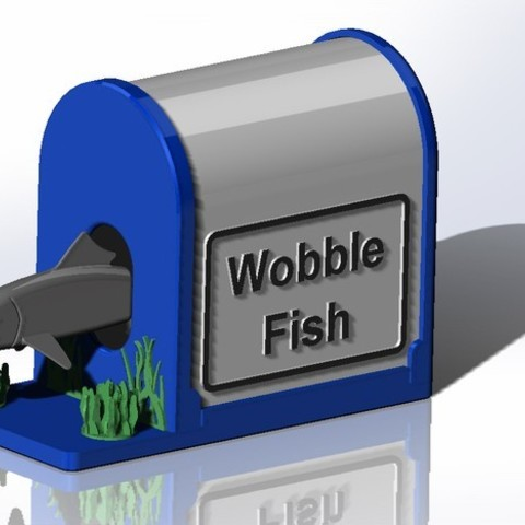 02_Wobble_Fish_Assy_CAD_display_large.jpg Télécharger fichier STL gratuit Wobble Fish ! • Design imprimable en 3D, Tarnliare
