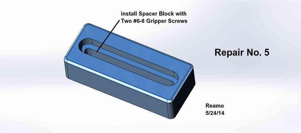 Repair_005-Spacer_Block_002_display_large.jpg Télécharger fichier STL gratuit Cinq réparations de portes de placard ! • Modèle pour imprimante 3D, Tarnliare