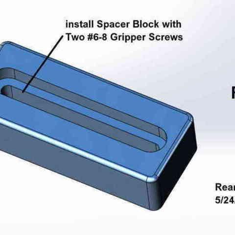 Repair_005-Spacer_Block_002_display_large.jpg Download free STL file Five Closet Door Repairs! • 3D printer template, Tarnliare
