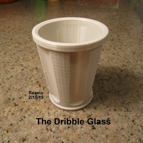 Dribble_Glass_001_display_large.jpg Download free STL file The Dribble Glass • 3D printer template, Tarnliare
