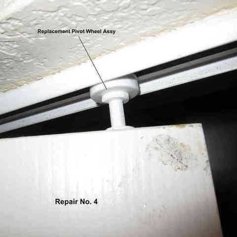 Repair_004-Upper_Pivot_Wheel_001_display_large.jpg Download free STL file Five Closet Door Repairs! • 3D printer template, Tarnliare