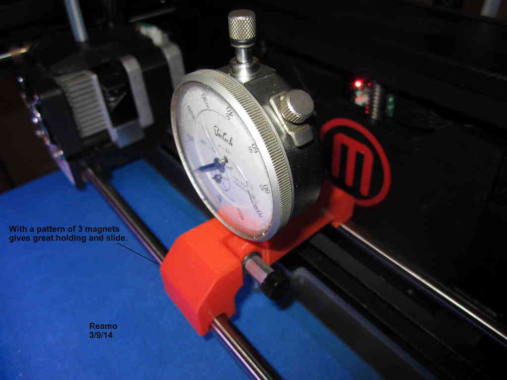 DialIndicatorMount-4TD_002_display_large.jpg Télécharger fichier STL gratuit Montage d'indicateur-MakerBot Replicator 2 • Design à imprimer en 3D, Tarnliare