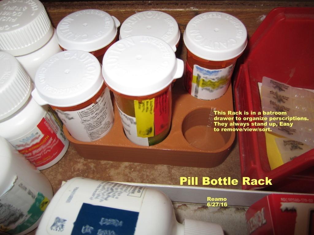 c4ba4f8d32088a34ac50bb8ac1c65472_display_large.jpg Télécharger fichier STL gratuit Range-bouteilles pour pilules • Design imprimable en 3D, Tarnliare