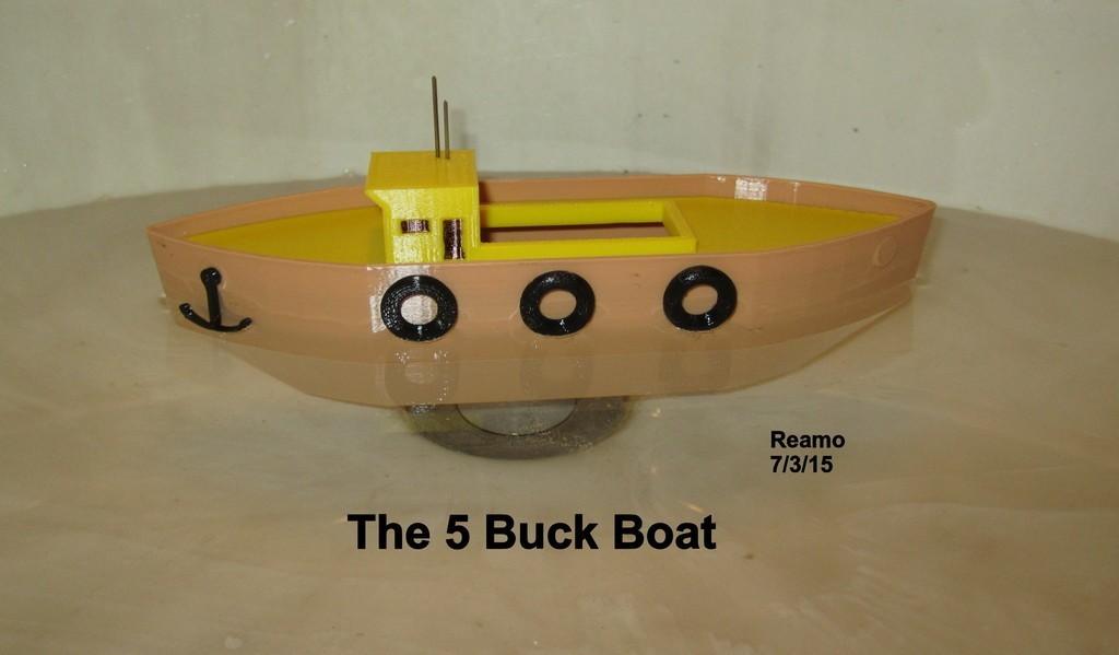 5_Buck_Boat_001_display_large.jpg Download free STL file 5 BUCK BOAT! • 3D printing object, Tarnliare