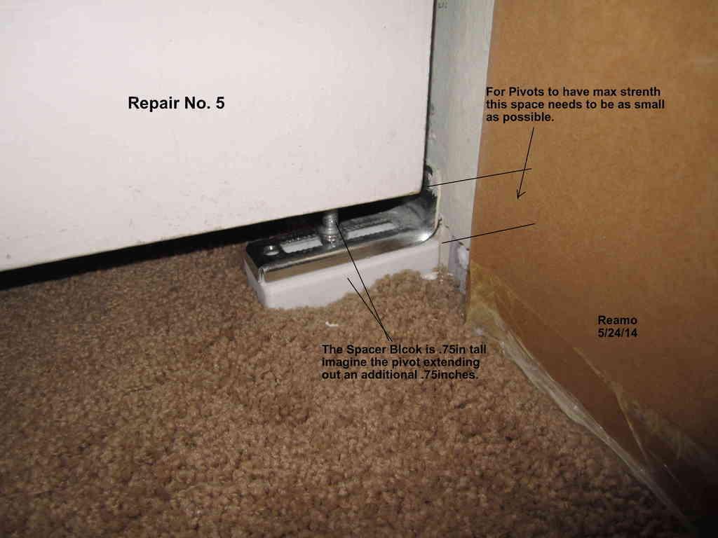 Repair_005-Spacer_Block_001_display_large.jpg Download free STL file Five Closet Door Repairs! • 3D printer template, Tarnliare