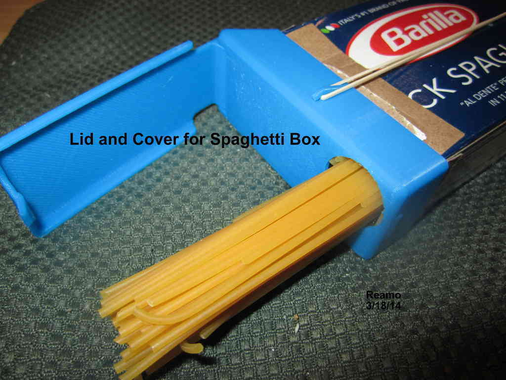 Spaghetti_Box_Assy_001_display_large.jpg Download free STL file Spaghetti Box End With Cover • Model to 3D print, Tarnliare