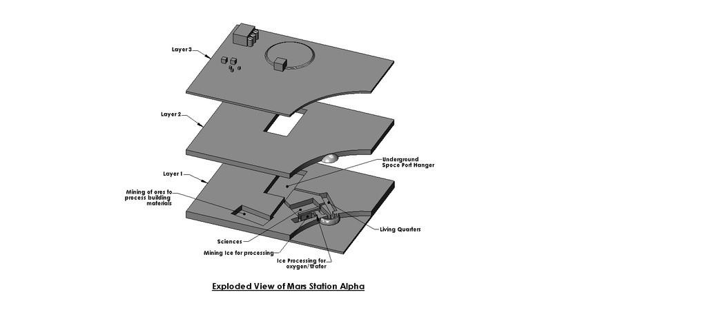 Mars_Station_Assy_002_display_large.jpg Download free STL file Mars Station Alpha • 3D printer template, Tarnliare