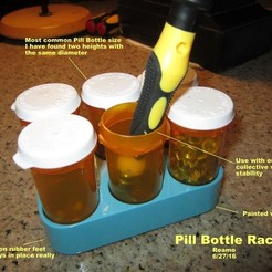 Free 3D printer files Pill Bottle Rack, Tarnliare