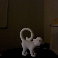 Free 3D printer designs Monkey Sculpture Scan, Tarnliare
