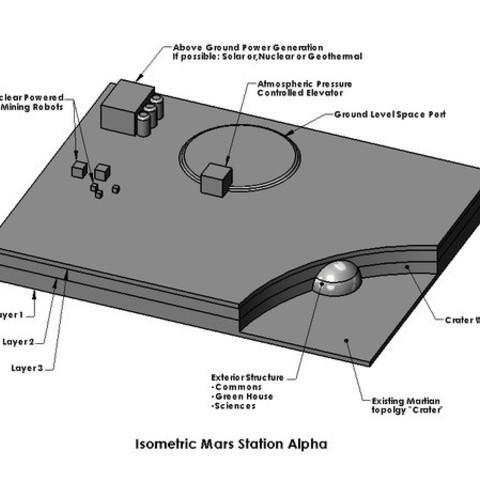 Mars_Station_Assy_001_display_large.jpg Download free STL file Mars Station Alpha • 3D printer template, Tarnliare