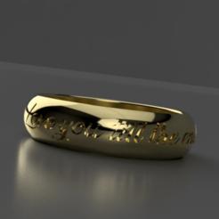 Ring v1.png Download STL file I love you ring • 3D printable design, sidragasum666