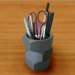3D print files Pencil pot, MalouLeBoss