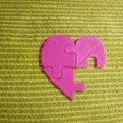 Download 3D printing templates Puzzle heart, DavidC93
