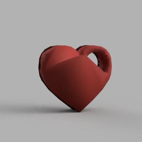Imprimir en 3D Llavero Corazón, DavidC93