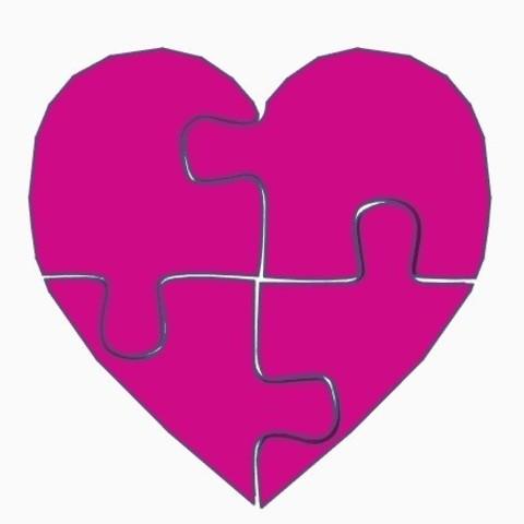 Télécharger fichier imprimante 3D Coeur de puzzle, DavidC93