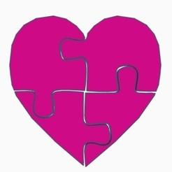 Fichier imprimante 3D Coeur de puzzle, DavidC93