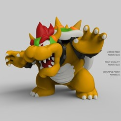 Download 3D printing templates Bowser, Bandicoot