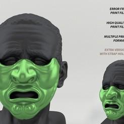 Download 3D printing designs Mempo Japanese Mask, Bandicoot