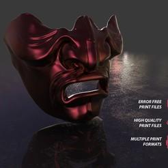 Télécharger fichier STL Masque Mempo Kabuto, Bandicoot