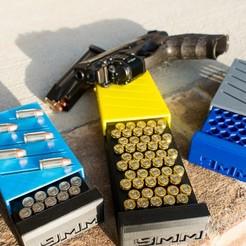 Descargar diseños 3D Caja de munición de calibre 9mm de 50 cartuchos Max, MizzrBear