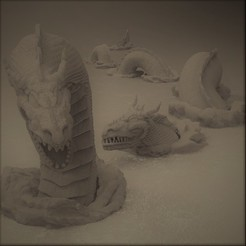 Modelos 3D Serpiente de mar, Dragon-Workshop