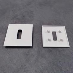 plaque.jpg Télécharger fichier STL Plaque d'interrupteur pour rénovation ou décoration • Design pour imprimante 3D, MakerJo
