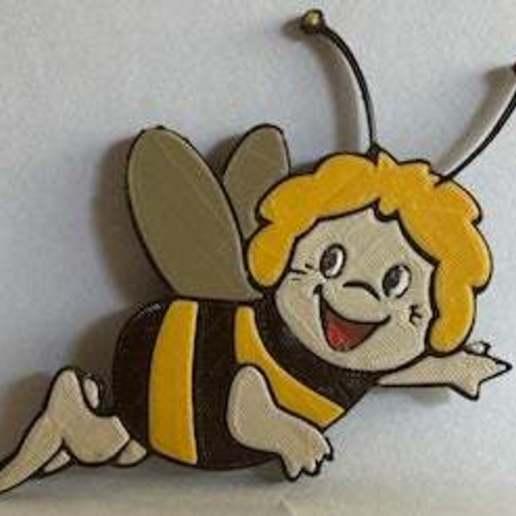 Download free STL file Badge Maya the bee • 3D printer object, jpgillot2