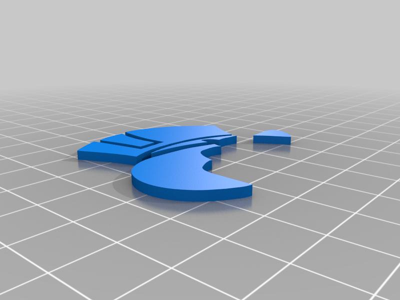 picsou_bleu.png Télécharger fichier STL gratuit badge picsou • Design imprimable en 3D, jpgillot2