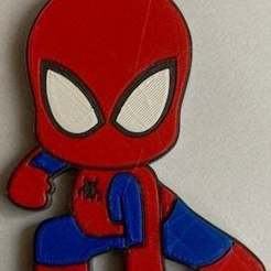 IMG_0075.jpeg Download free STL file badge chibi spiderman • 3D printing object, jpgillot2