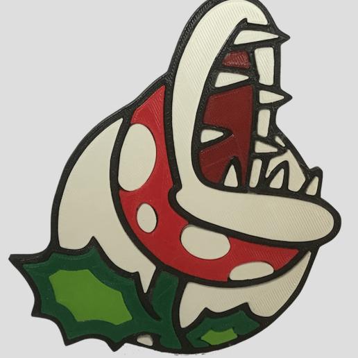 Télécharger fichier STL gratuit badge Plante carnivore, jpgillot2