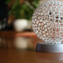 Free STL file Christmas ball with led lights, Minerva3D