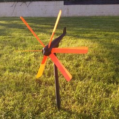 Download free 3D print files Wind turbine or weather vane, anthonylecabellec