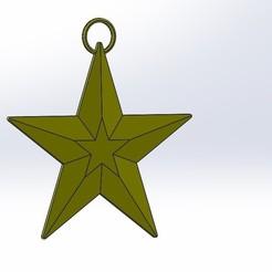 Descargar modelos 3D gratis estrella de Navidad, anthonylecabellec