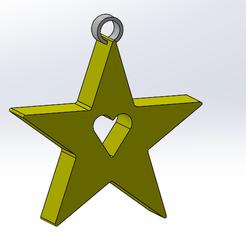 Archivos STL gratis estrella de Navidad, anthonylecabellec